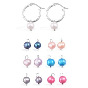 Jewelry - Steel Natural Stainless Steel Fresh Water Pearl